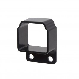 Straight Wall Mount Bracket For Aluminum Commercial Deco Rail - Powder Coated Black