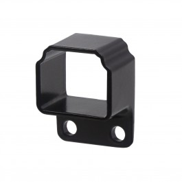Straight Wall Mount Bracket For Aluminum Residential Deco Rail - Powder Coated Black