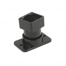 Elite Aluminum Fence Swivel Rail End - Residential (Black)
