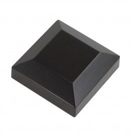 "Post Cap for 2 1/2"" Sq. Fence Post (Black)"