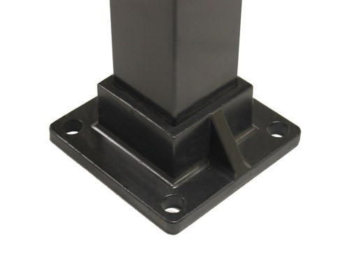 Floor Flange For 2 Quot Sq Aluminum Fence Posts Deck Mount
