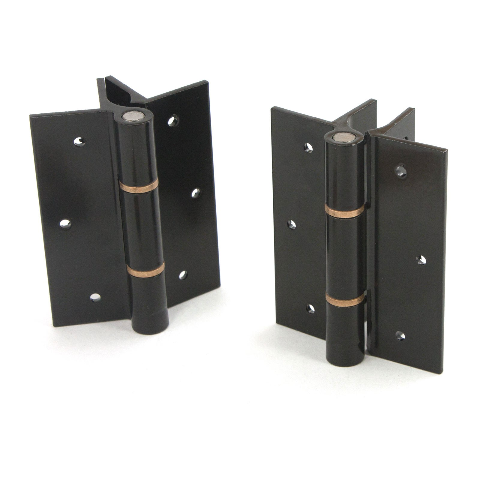 Elite Aluminum Fence Standard Hinge Pair Black Quick
