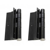 "Aluminum Fence Gate Hinges - 5"" Self Closing (Pair) (Black)"