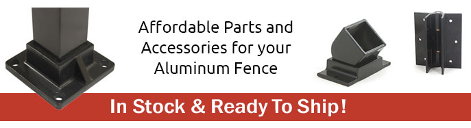 Quickly Shipped Aluminum Fence Accessories